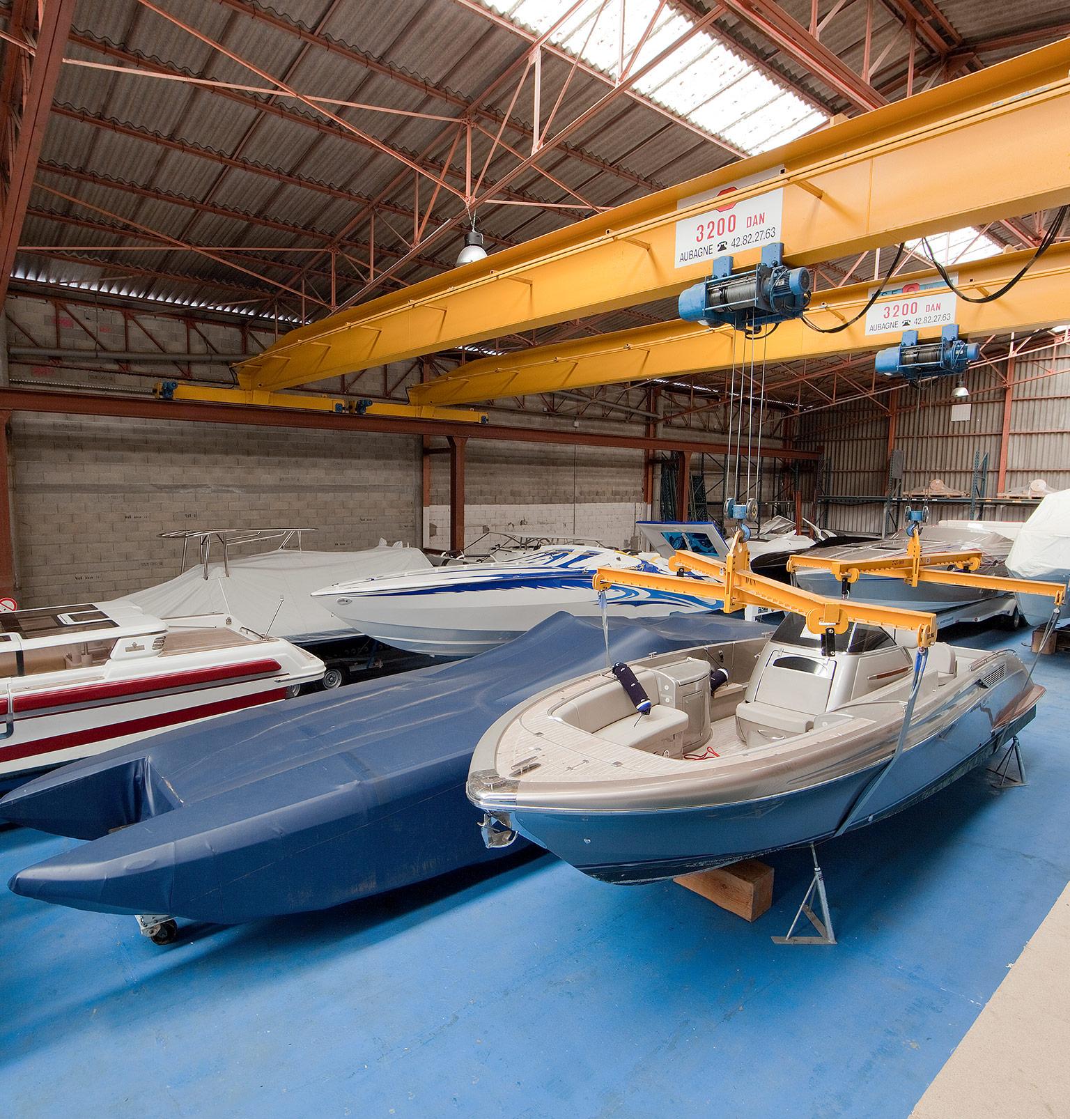 Entreposage de bateau de plaisance -