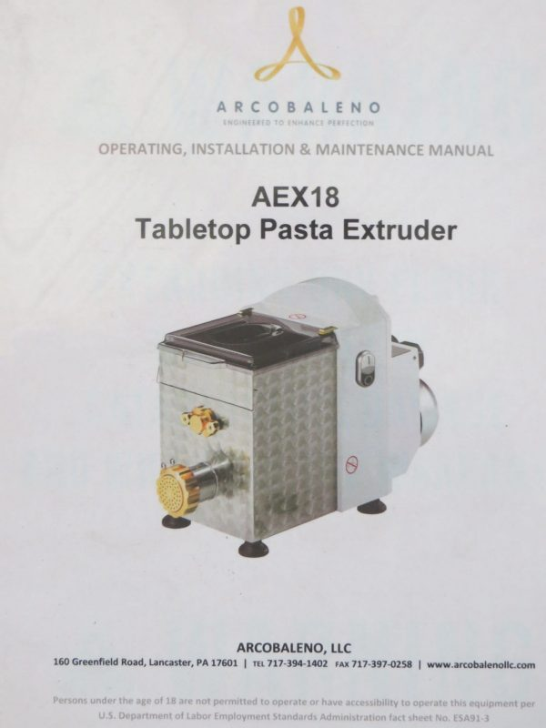Table Top Pasta Extrude -